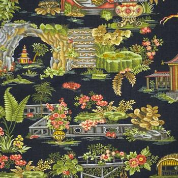 Henry Glass - Botanica III - Garden Scenery - Black