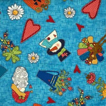 Henry Glass - Doodle Days Calendar - Snowmen & Pumpkins - Blue