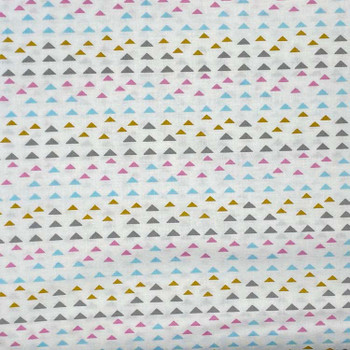 Henry Glass - Laugh Love Quilt - Tiny Triangle Stripes - Multi