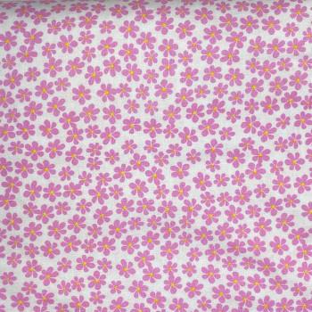Benartex - Love Bunny - Tossed Daisies - Pink