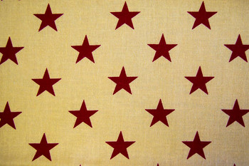 Seasonal SPW222 - Patriotic Stars - Red/Ant White