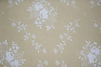 Santee - Tone on Tone - Floral - Teastain