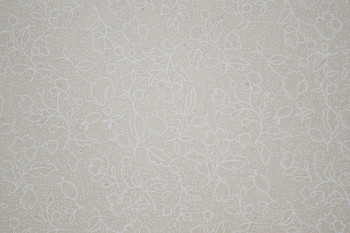 Tone on Tone SPW12 - Floral & Dots - White/Teastain