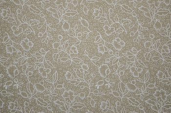 Tone on Tone SPW12 - Floral & Dots - Teastain