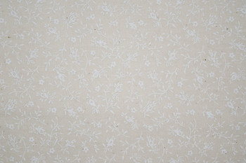 Tone on Tone SPW12 - Floral Vines - White/Teastain