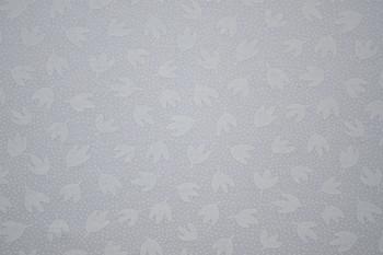 Tone on Tone SPW149 - Leaves & Dots - White/White