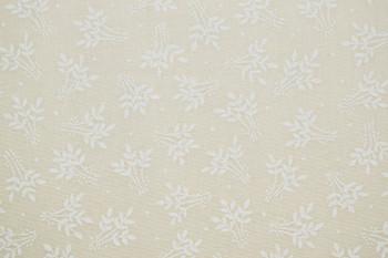 Tone on Tone SPW8 - Leaves - White/Teastain