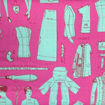 RJR - Vintage Made Modern - Patterns - Pink