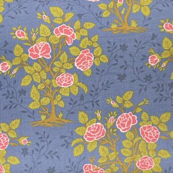 RJR - Garden Gate - Rose Bush - Blue