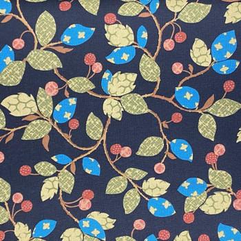 RJR - Garden Collage - Vines & Berries - Dk Blue