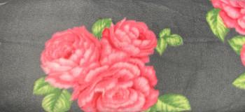 David Textiles - Fleece Prints - Bohemian Roses - Grey/Pink
