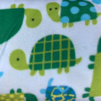 Baum Textiles - Winter Fleece - Turtles Everywhere - Green