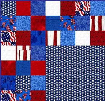 Stars and Stripes - Squares Quilt Kit