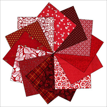 Mixed Red - 5'' Squares