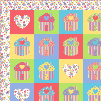 Gnome Sweet Gnome - Gnome Home Quilt Kit - Close Up