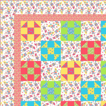 Gnome Sweet Gnome - Pixie Dust Quilt Kit - Close Up
