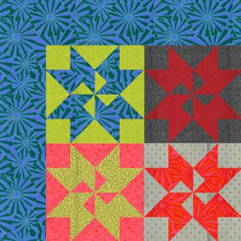 Punctuated - Pinwheel Quilt Kit - Close Up