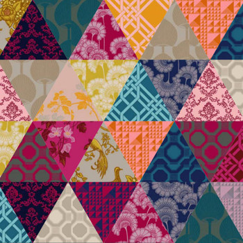Romantic Rebel - 60 Degree Triangle Quilt Kit - Close Up