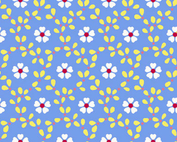 River's Bend - Cottage Blooms - Bloom Allover - Blue