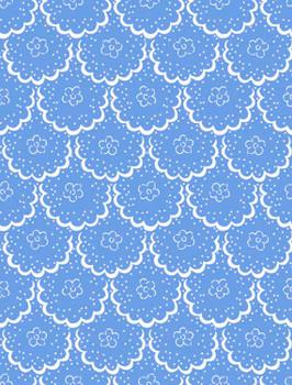 River's Bend - Cottage Blooms - Lace - Blue