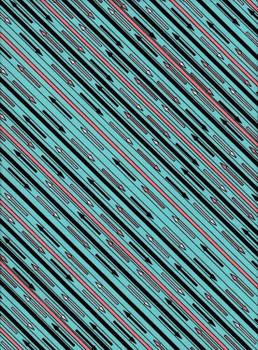 River's Bend - Glamping Gypsies - Diagonal Stripes - Blue