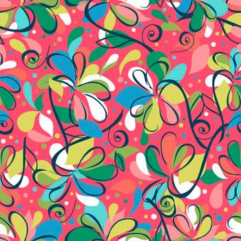 River's Bend - Swirlygig - Swirl Flowers - Raspberry