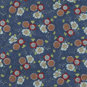 River's Bend - Vintage Vogue Laundry - Flowers Allover - Blue