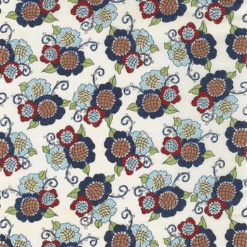 River's Bend - Vintage Vogue Laundry - Flowers Allover - Natural