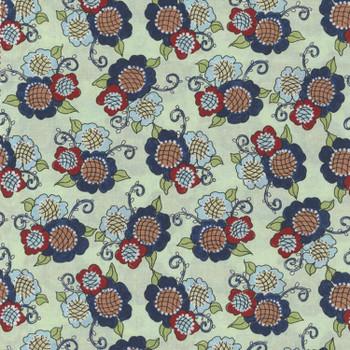 River's Bend - Vintage Vogue Laundry - Flowers Allover - Lt Green
