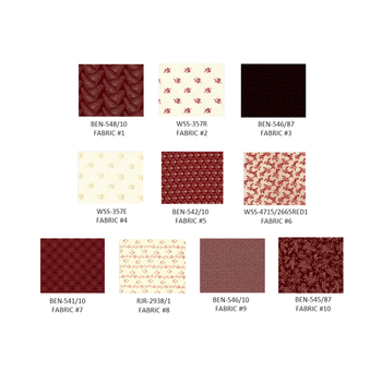 Lords & Ladies Quilt Kit (Red)
