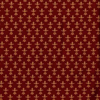 Henry Glass - Wit & Wisdom - Fleur de Lis - Burgundy