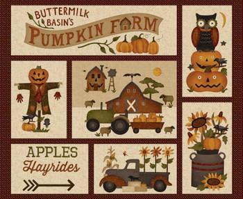 Henry Glass - Buttermilk Basins Pumpkin Farm - Panel - Cream