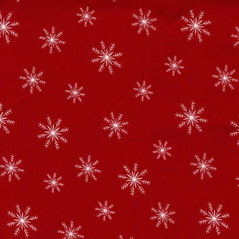 Henry Glass - Ring In The Holiday - Snowflakes - Red