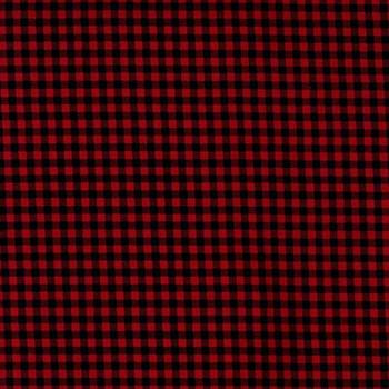Henry Glass - Buttermilk Winter - Mini Buffalo Plaid - Red