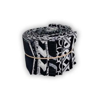 Mixed Black & White - 2.5'' Strips - Mini Rolls