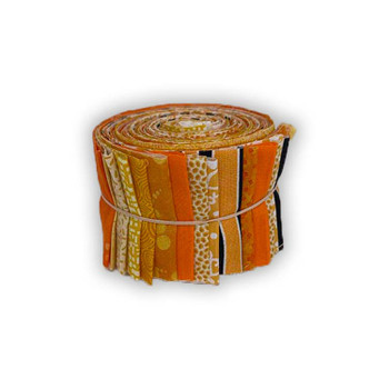 Mixed Oranges - 2.5'' Strips - Mini Rolls