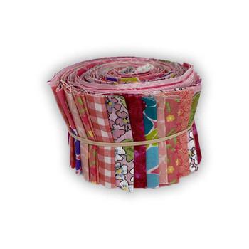 Mixed Pinks - 2.5'' Strips - Mini Rolls