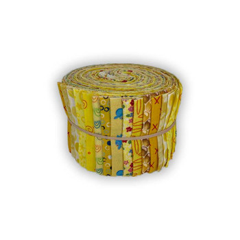 Mixed Yellows - 2.5'' Strips - Mini Rolls