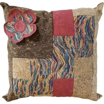 Cork Fabric - Precut Pillow Kit - Red