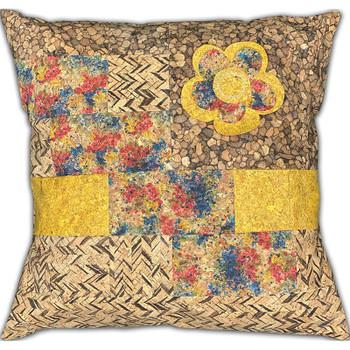 Cork Fabric - Precut Pillow Kit - Mustard