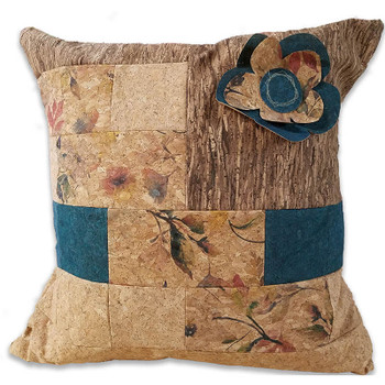 Cork Fabric - Precut Pillow Kit - Teal
