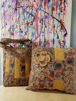 Cork Fabric - Precut Tote Bag Kit - Mustard