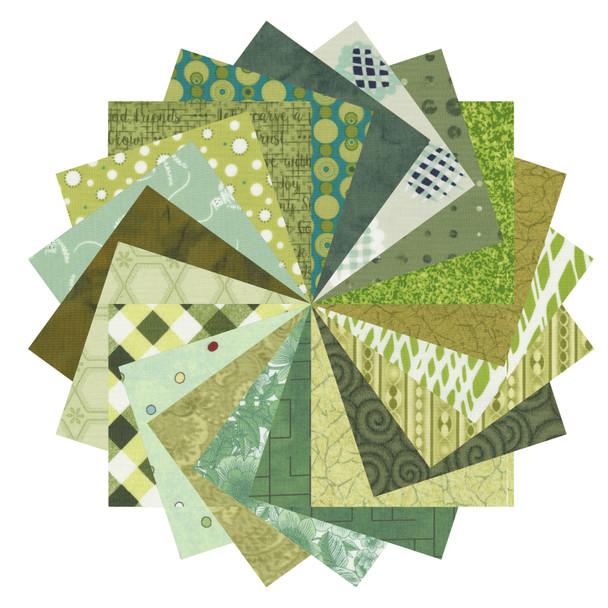 Mixed Greens - 2.5'' Squares