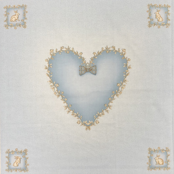 Blue Heart Pillow Panel Kit