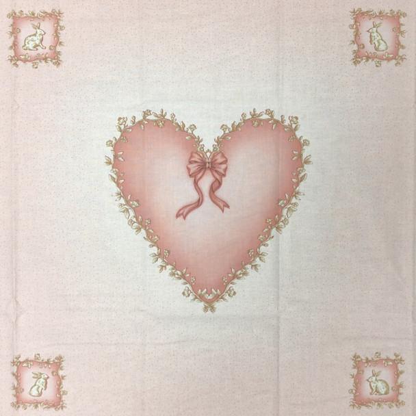 Pink Heart Pillow Panel Kit