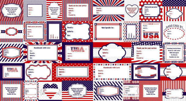 Red, White, & Blue Tags Panel Kit