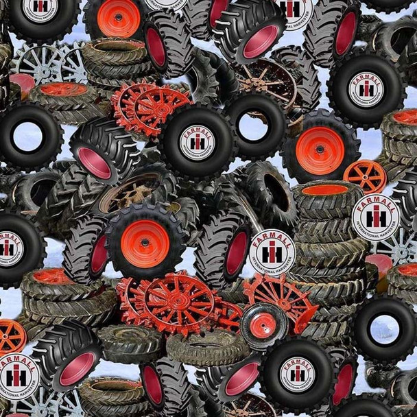 Print Concepts - Farmall - Packed Tires - Grey