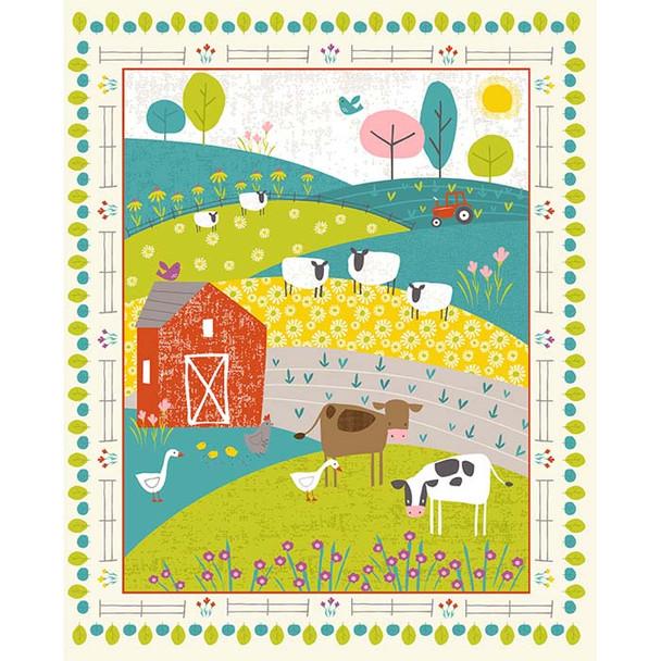 Studio E - Wildflower Farm - 36'' Panel - Multi