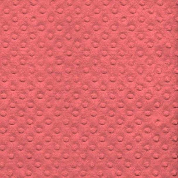 David Textiles - Bubble Plush Fleece - Coral