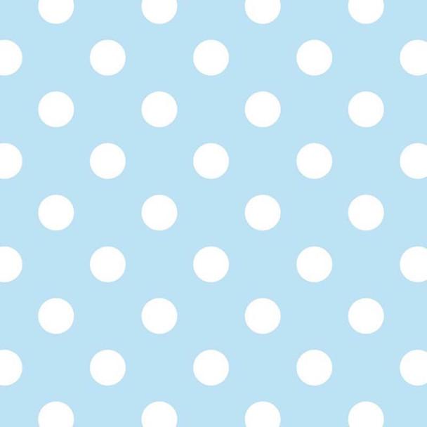 David Textiles - Fleece Prints - Polka Dots - Blue